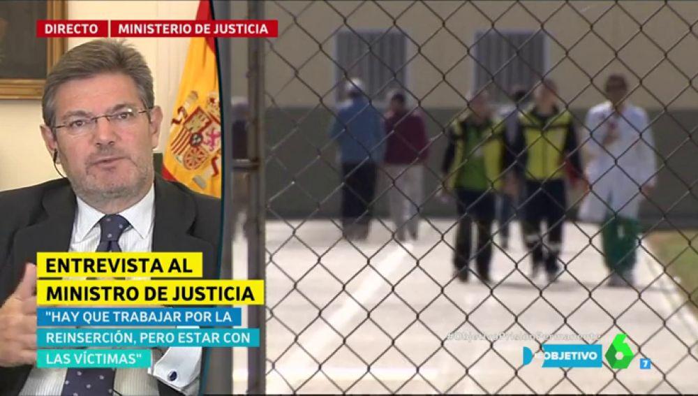 """Rafael Catalá, sobre la prisión permanente revisable: """"Hay que trabajar por la reinserción, pero estar con las víctimas"""""""