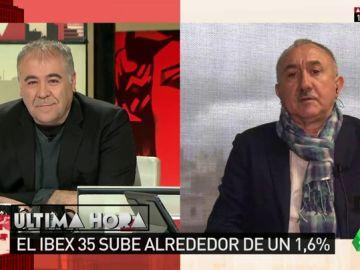 """Pepe Álvarez: """"La revalorización de un 0,25% de las pensiones es una mierda"""""""