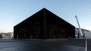 Así luce el Pabellón Hyundai de PyeongChang (Corea del Sur), el edificio más negro del mundo