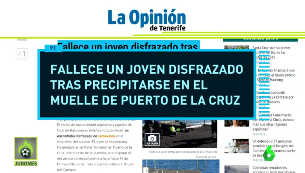 Investigan la muerte en extrañas circunstancias de un jugador de balonmano del Bolaños en Puerto de la Cruz