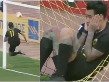 Incomprensible fallo de Sergio Araujo en la línea de gol