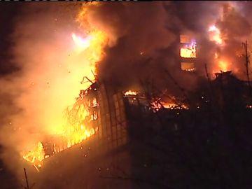 Imagen de archivo del incendio del edificio Windsor