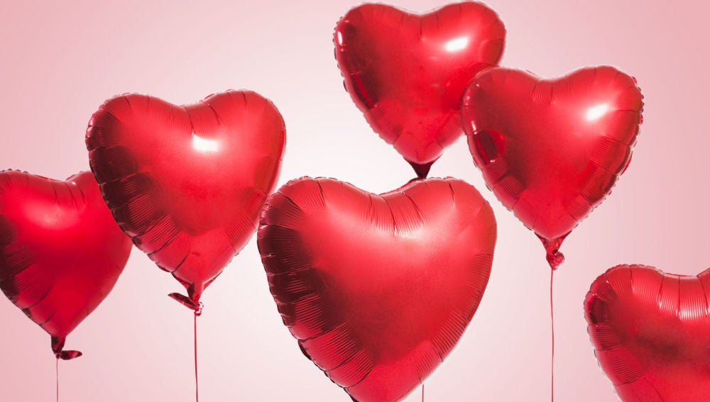 Imagen de globos de corazones