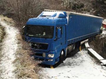 Un camión se queda atrapado por culpa del GPS