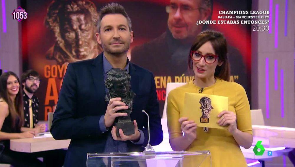 Francisco Granados gana el 'Goya' a mejor actor revelación por su papel en 'Ay, pena Púnica, pena'