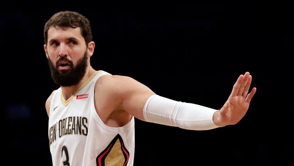 Nikola Mirotic, en un partido con los New Orleans Pelicans