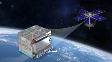 Detalle de cómo sería el aspecto del DSAC, el reloj atómico de espacio profundo que está desarrollando el JPL