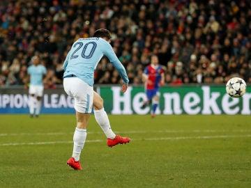Bernardo Silva anota el 0-2 ante el Basilea