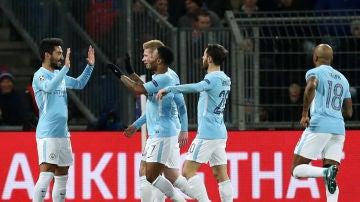 Gündogan celebra un gol ante el Basilea