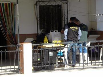 Vivienda del crimen machista en La Viñuela