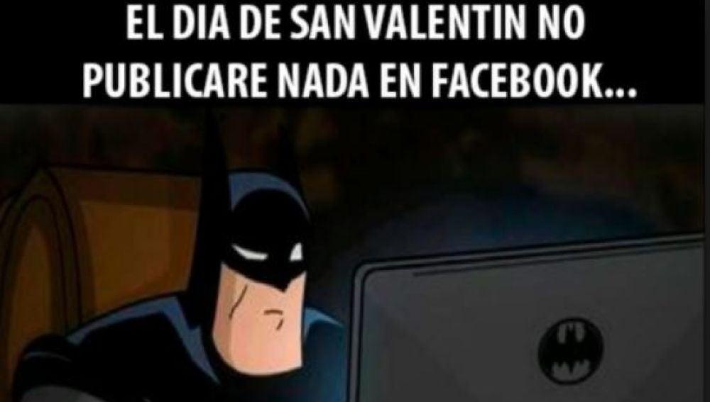 El 'meme' que demuestra que a Batman también le preocupa San Valentín