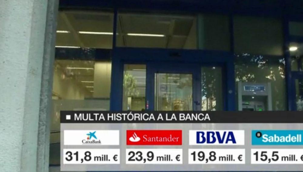 Multa histórica a la banca