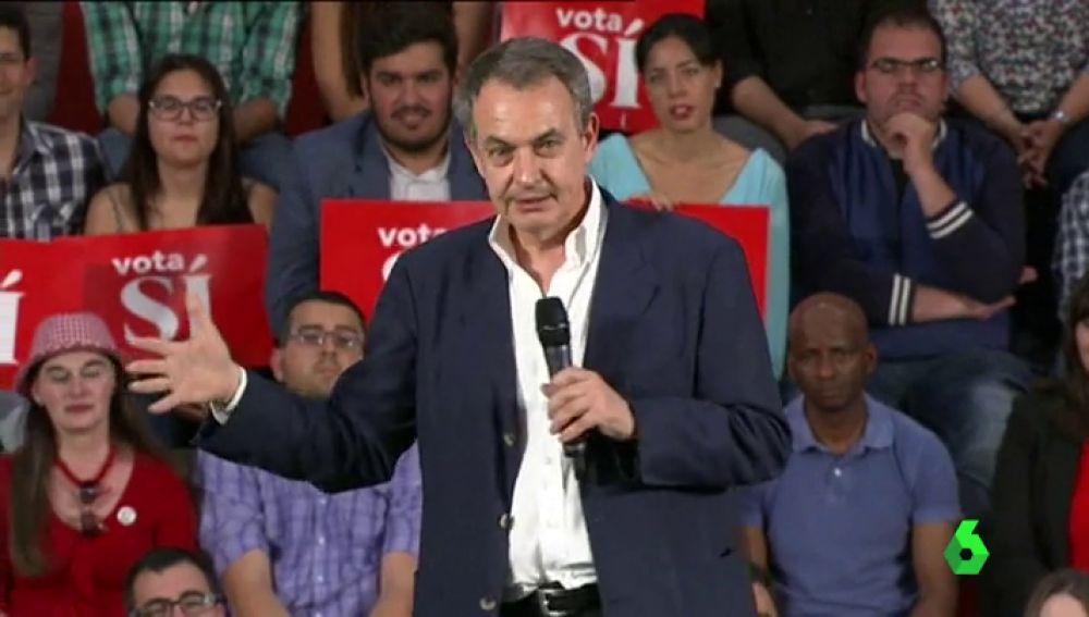 José Luis Rodríguez Zapatero durante un acto