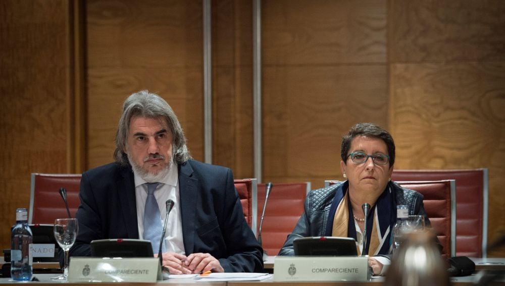 A la izquierda, Alberto Ganga, abogado de la plataforma Garantías Ciudadanas