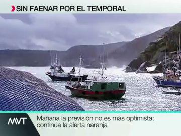 El temporal no permite a los pescadores en Galicia salir a faenar