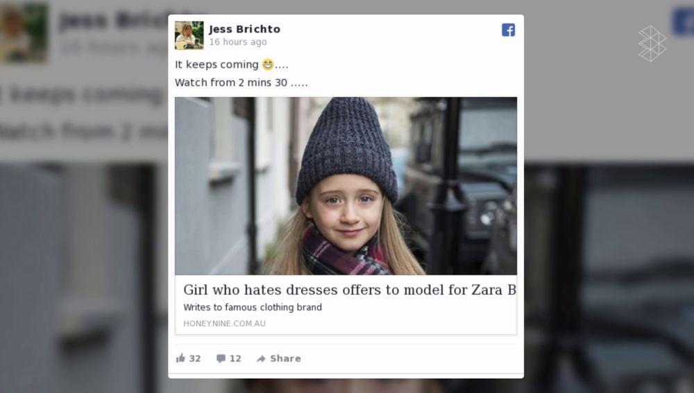 Eliza Brichto en Facebook
