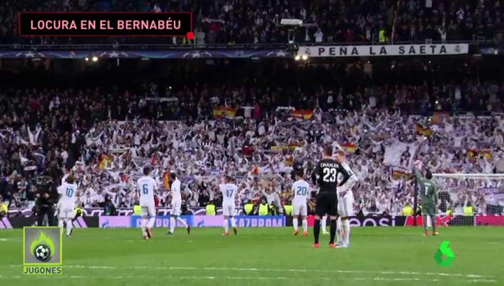 """Así fue la celebración en el Bernabéu tras ganar al  PSG: """"Así, así, así gana el Madrid"""""""