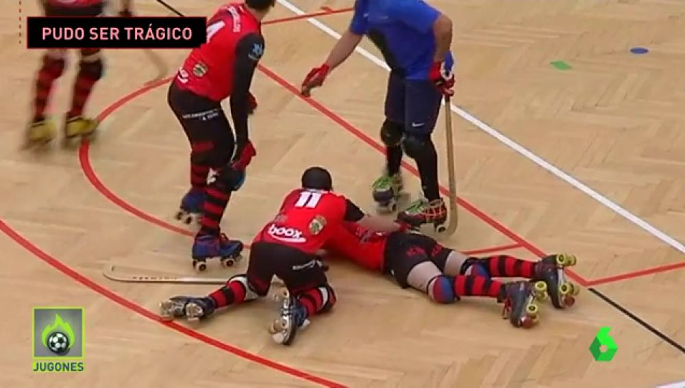 Brutal agresión a un jugador de hockey