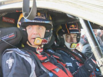 Josep Pedrerol con Carlos Sainz.