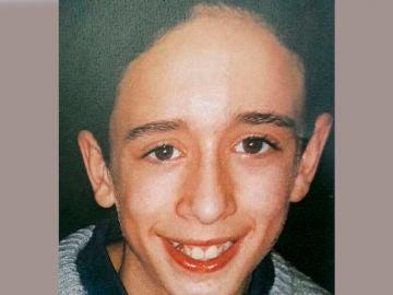 Imagen del menor desparecido difundida por los Mossos