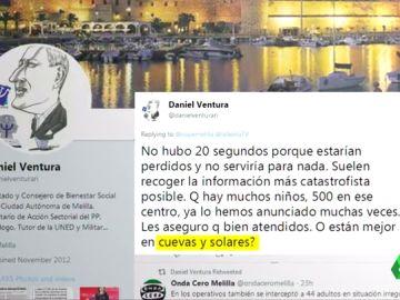 El tuit del consejero Daniel Ventura
