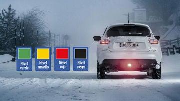 código de colores para la nieve
