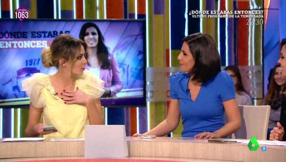 Ana Pastor pilla 'in fraganti' a Anna Simon cantando 'Tu canción' de Alfred y Amaia