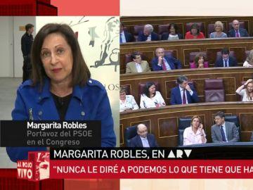 Margarita Robles, en Al Rojo Vivo