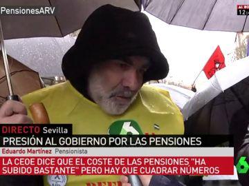 Eduardo Martínez, pensionista