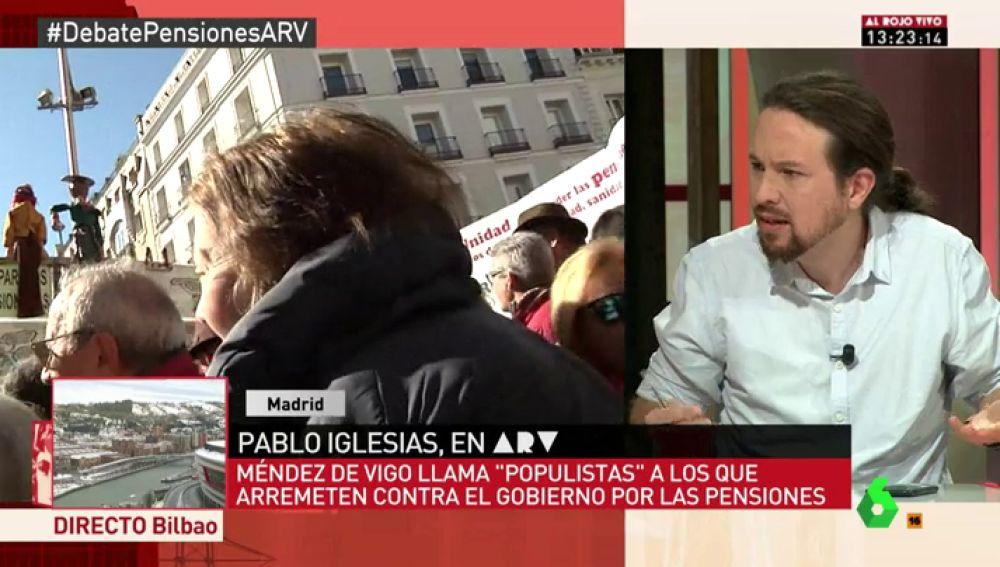 Pablo Iglesias, en ARV