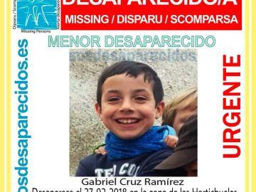 Imagen del niño desaparecido en Níjar