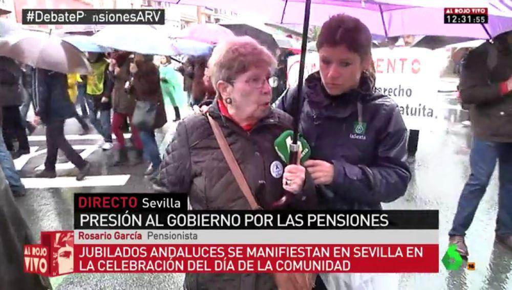 Rosario García, pensionista