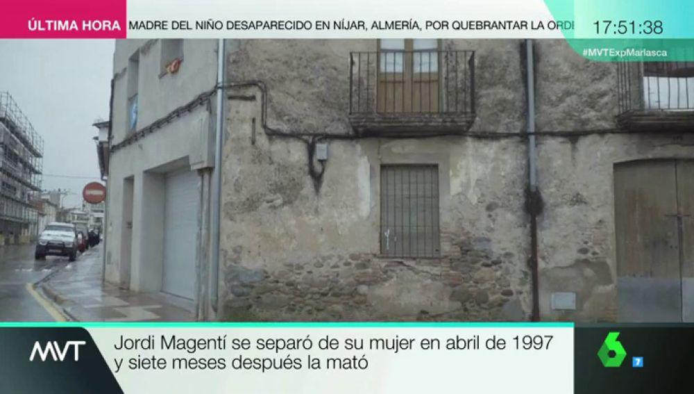 Lugar en el que Magentí asesinó a su mujer