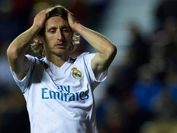 Luka Modric, durante un partido con el Real Madrid