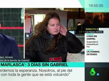 Rocío, portavoz de la familia de Gabriel
