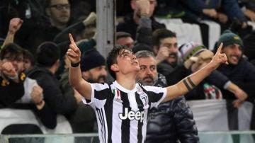 Dybala celebra un gol