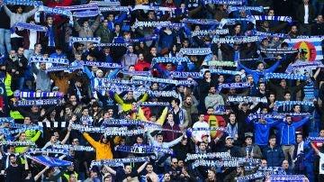 Aficionados del Espanyol en Cornellá