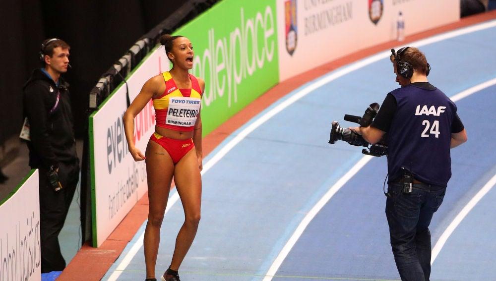 Ana Peleteiro, durante la prueba