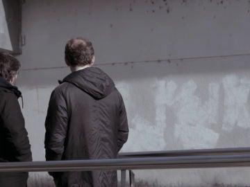 Pintada que Jordi Évole se encontró en una   pared a su llegada a Os Peares