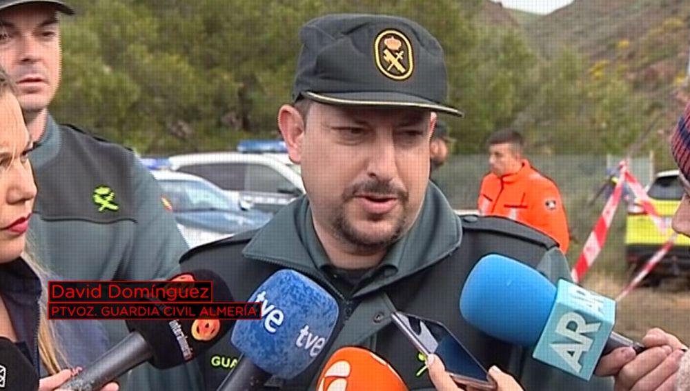 David Domínguez, portavoz de la Guardia Civil en Almería
