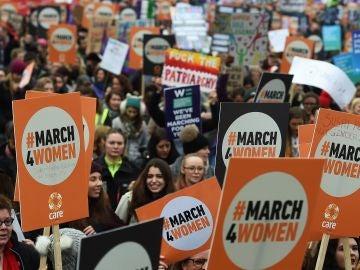 Manifestación en Londres por la igualdad de género