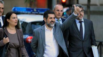 Jordi Sánchez a su llegada a la Audiencia Nacional
