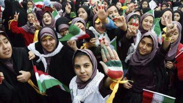 Mujeres iraníes en una manifestación