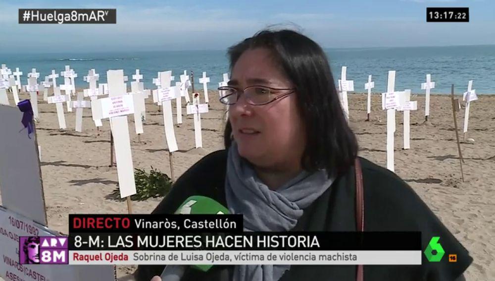 Raquel Ojeda, sobrina de una víctima de violencia machista