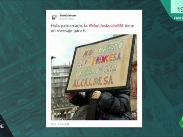 Una de las pancartas que se vieron en la huelga feminista del 8 de marzo