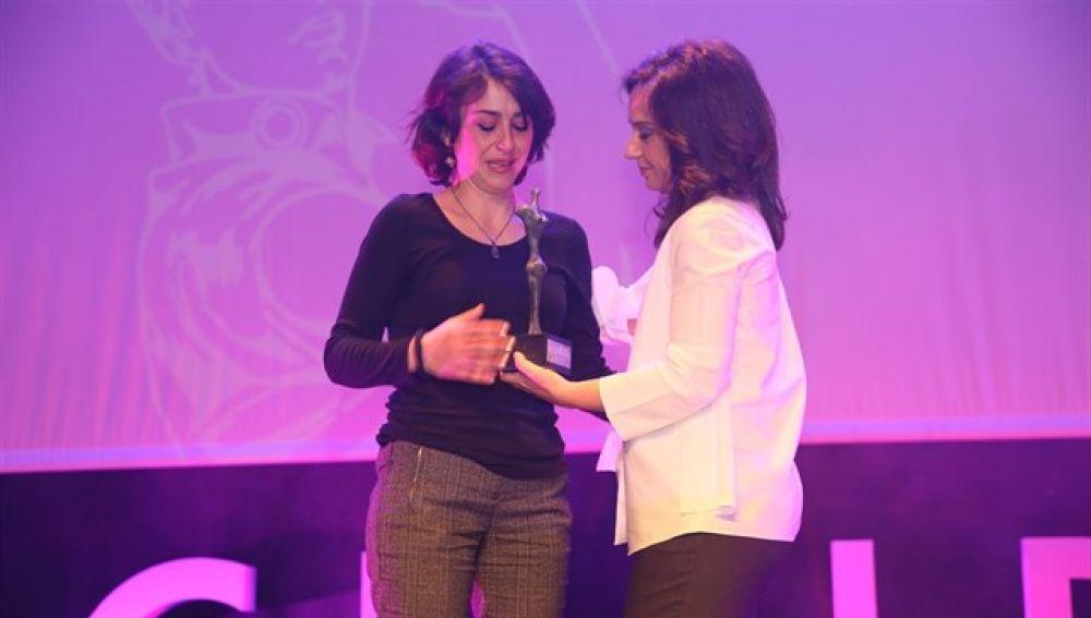 Juana Rivas recoge el 'Premio 8 de marzo' en Getafe
