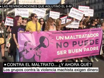 Manifestación durante el 8M