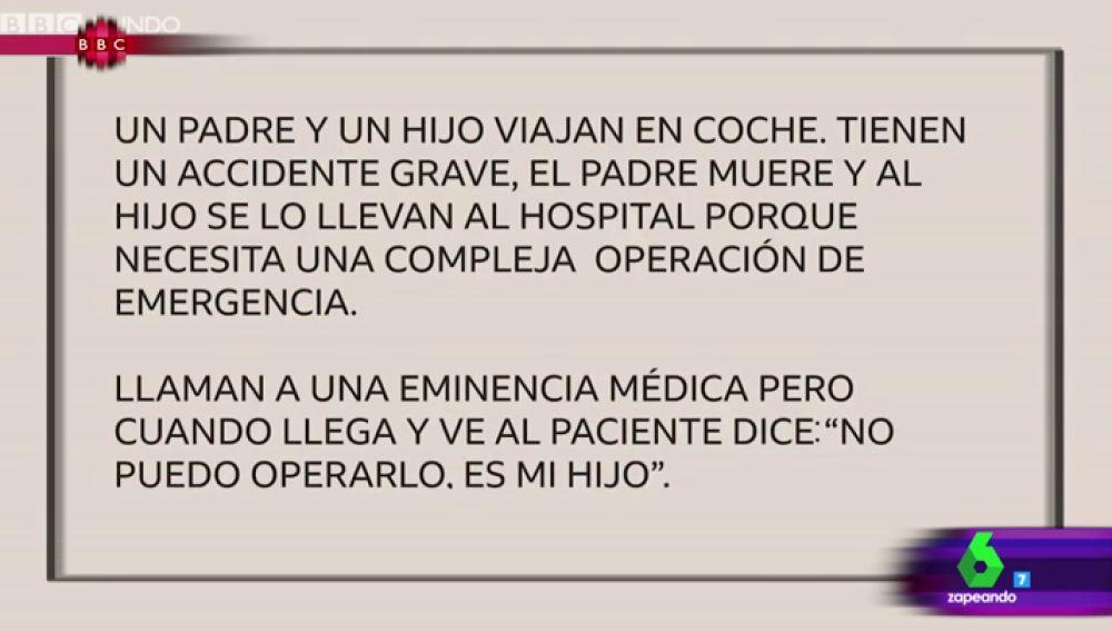 La Sexta Tv El Acertijo Del Padre El Hijo Y La Eminencia Medica