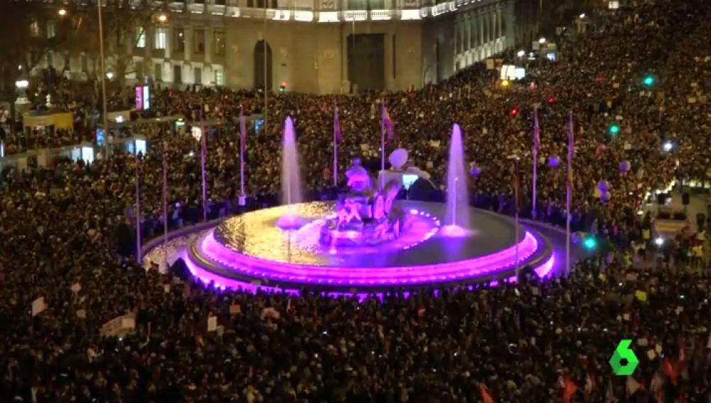 Movilización en el centro de Madrid