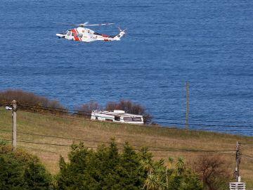Vista del operativo para la búsqueda de Lorena Torre, otra mujer desaparecida en Asturias